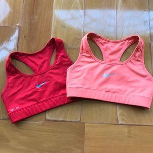 Nike Dry fit sports bras TWO BRAS